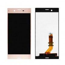 Pantalla LCD y tactil color dorado para Sony Xperia XZ