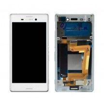 Pantalla completa blanca con marco para Sony Xperia M4 Aqua E2303 (swap)