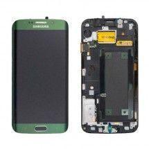 Pantalla LCD mas tactil con marco color verde Samsung Galaxy S6 Edge G925