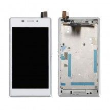 Tactil y LCD con marco Sony Xperia M2 dual S50h Blanco