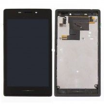 Tactil y LCD con marco Sony Xperia M2 dual S50h Negro