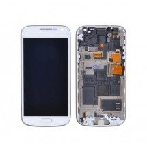 Pantalla LCD mas tactil con marco color blanco Samsung Galaxy S4 Mini i9195 (Swap)
