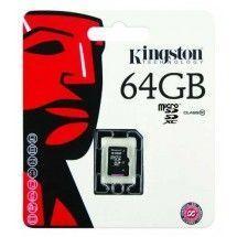 Tarjeta MicroSD 64GB Kingston clase 10