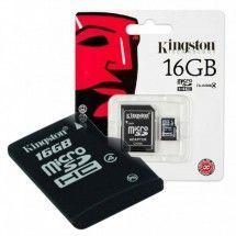 Tarjeta MicroSD 16GB Kingstonv Clase 4