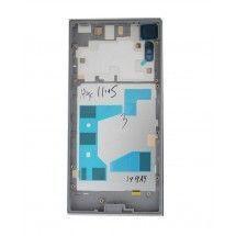 Carcasa trasera color silver con lente para Sony Xperia XZ