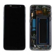 Pantalla color Silver con premarco Samsung Galaxy S7 Edge G935F