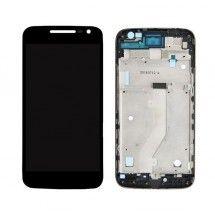 Pantalla LCD mas tactil con marco color negro para Motorola Moto G4 Play