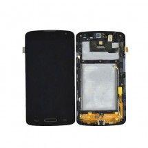Pantalla LCD mas tactil con marco color negro LG F70 D315
