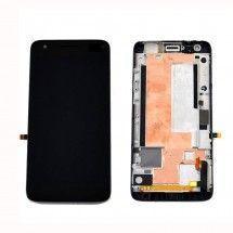 LCD mas tactil con marco para ZTE Grand S Lite color negro