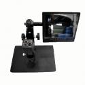 Microscopio de electrones con pantalla