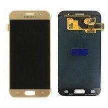 Pantalla LCD mas tactil color dorado para Samsung Galaxy A3 2017 (A320F)