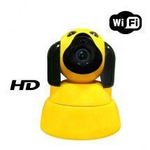 Cámara de vigilancia perro 720p WIFI IP - Color Amarillo