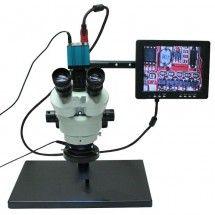 Microscopio 20/40X con soporte luz led más cámara Taida TD-HU708A 14mpx