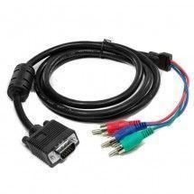 Cable VGA-M a 3 RCA-M