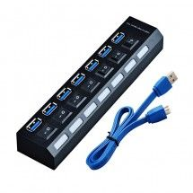 Cable USB HUB 7 EN 1 3.0 con interruptor