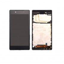 Pantalla LCD más táctil con marco color negro para Sony Xperia Z5 E6653, E6603 (Swap)