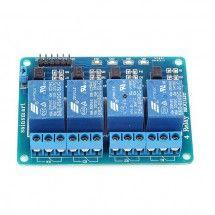 Módulo 4 Canales Relé 5V Compatible con Arduino