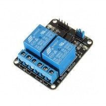 Módulo 2 Canales Relé 5V Compatible con Arduino