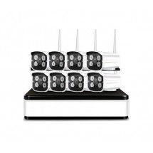 Set 8 cámaras Wireless NVR Grabación digital