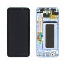 Pantalla LCD y tactil Con Marco color Azul para Samsung Galaxy S8 Plus G955F