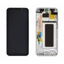 Pantalla LCD y tactil Con Marco color Silver para Samsung Galaxy S8 Plus G955F