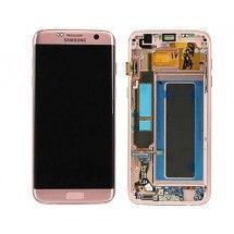 Pantalla LCD más táctil con premarco color negro para Samsung Galaxy S7 Edge G935F