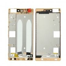 Marco frontal display color dorado para Huawei Ascend P8