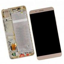 Pantalla completa con marco color dorado para Huawei Honor 7i