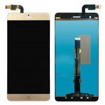 Pantalla LCD y táctil color Dorado para ZTE Blade V7 Max