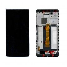 Pantalla LCD y tactil Con Marco color negro para Huawei Ascend Mate S