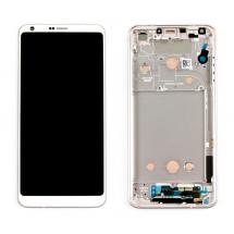 Pantalla LCD y táctil Con marco color blanco para LG G6 H870