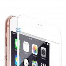 Portector Cristal Templado Cruvo 5D Blanco para iPhone 6 Plus y 6S Plus