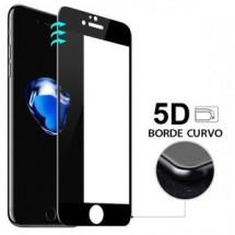 Portector Cristal Templado Cruvo 5D Negro para iPhone 6 Plus y 6S Plus
