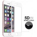Portector Cristal Templado Cruvo 4D Blanco para iPhone 6G