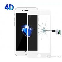 Protector Cristal Templado 4D Blanco para iPhone 7 Plus