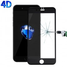 Protector Cristal Templado 4D Negro para iPhone 7 Plus