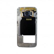 Carcasa intermedia Original color azul para Samsung Galaxy S6 Edge (Swap