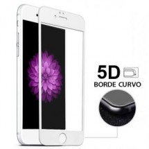 Protector Cristal Templado Cruvo 5D Blanco para iPhone 7G