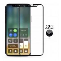 Protector Cristal Templado Cruvo 5D Negro para iPhone X