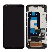 Pantalla Lcd y Táctil color Platinum con Marco para LG Q6 M700A