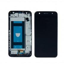 Pantalla LCD y táctil negro con marco para LG X Power II M320