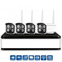 Set 4 cámaras Wireless NVR Grabación digital