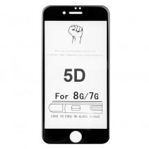Protector Cristal Templado 5D Negro para iPhone 8 (negro)