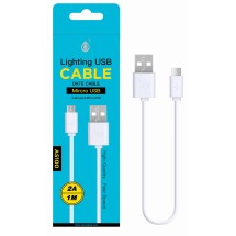 Cable datos MicroUSB - 1m - 2A - Ref. AS100 - Varios colores