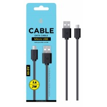 Cable datos MicroUSB - 3m - Ref. AS109 - Varios colores