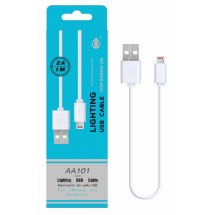 Cable datos Lighting para iPhone - 1m - 2A - Ref. AA101- Varios colores