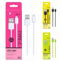 Cable datos USB Type-C - 1m - 2A - Ref. P5214 - Varios colores
