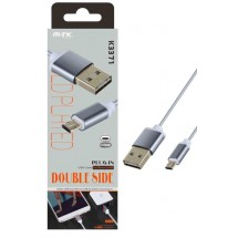 Cable datos Reversible MicroUSB - 1m - 2A - Ref. K3371