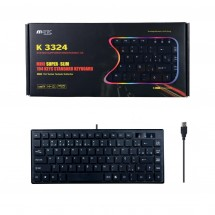 Mini Teclado Sleeve USB Rf. K3324 color negro