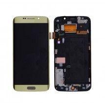 Pantalla LCD mas tactil con marco color dorado Samsung Galaxy S6 Edge G925